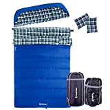 KingCamp Cotton Flannel 3 Season...