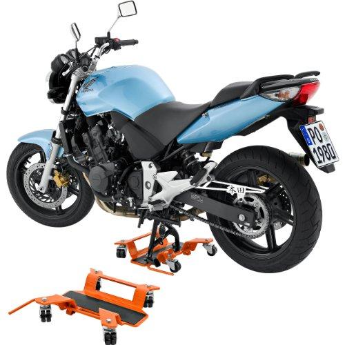 Hi-Q Tools Montageständer Motorrad Ständer Motorradheber Rangierhilfe bis 250kg für Hauptständer, Unisex, Multipurpose, Ganzjährig, Stahl, orange