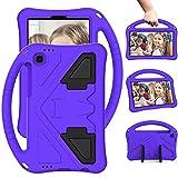 YIU Funda de tablet PC para niños Funda para Samsung Galaxy Tab A7 Lite Case 2021 8.7 pulgadas SM-T225/T220, para niños Eva a prueba de golpes, ligera, a prueba de caídas (color: Purper)