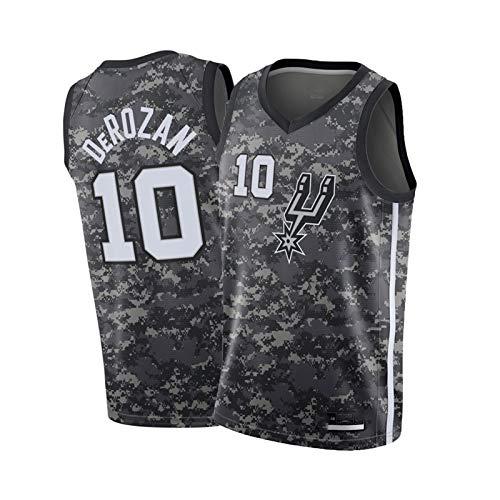 FGSD DeRozan #10 Spurs - Camisetas de baloncesto para hombre, camisetas bordadas, adecuadas para uso diario y juegos de baloncesto M
