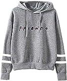 MINIDORA Friends Hoodies Mujer Sudadera con Capucha Unisex Suéter para Fans de Drama(Gris,M)
