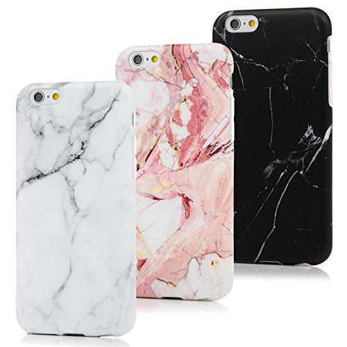 MAXFE.CO 3X Cover iPhone 6S, iPhone 6 Custodia Silicone Morbido Trasparente TPU Flessibile Gomma Design IMD Case Ultra Sottile Cassa Protettiva per iPhone 6/6S - Marmo A