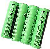 18650 Batería Recargable de Iones de Litio de 3 baterías de 7 V 8800 MAH Capacidad de Gran Capacidad para Dispositivos electrónicos de iluminación de Emergencia LED, etc. 4 Piezas (Verde)