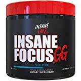 Insane Labz Insane Focus. GG Video Gaming Energy Powder, Pre Workout with Beta Alanine Vitamin B12 Caffeine Powered by AMPiberry, 30 Srvgs, Sub Zero