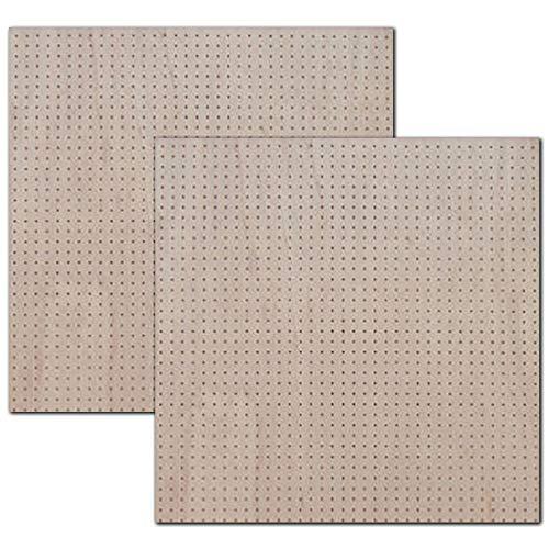有孔ボード ラワン合板 無塗装 ハーフ(4ミリ厚x横900ミリ×縦900ミリ) UKB-900900-R-2S 穴径5ミリ穴ピッチ25ミリ 2枚入