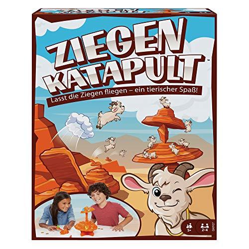 Mattel Games GKF07 - ZIEGENKATAPULT Kinderspiel, geeignet für 2 - 4 Spieler, Kinderspiele ab 5 Jahren