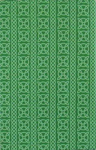 Mainstream St. Patrick's Day Irish Celtic Knot Pattern Vinyl Flannel Back Tablecloth (52' x 90' Oblong)