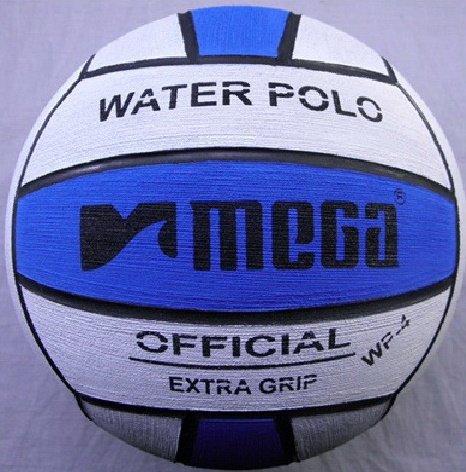 Pelota de waterpolo Mega, en blanco y azul, tamaño número 4: Para competiciones junior y de mujeres