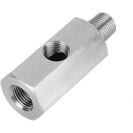 Suuonee Öldrucksensor Adapter M10 Öldruckmesser Adapter Aus Edelstahl T Stück Auf Npt Adapter Turboversorgung Auto