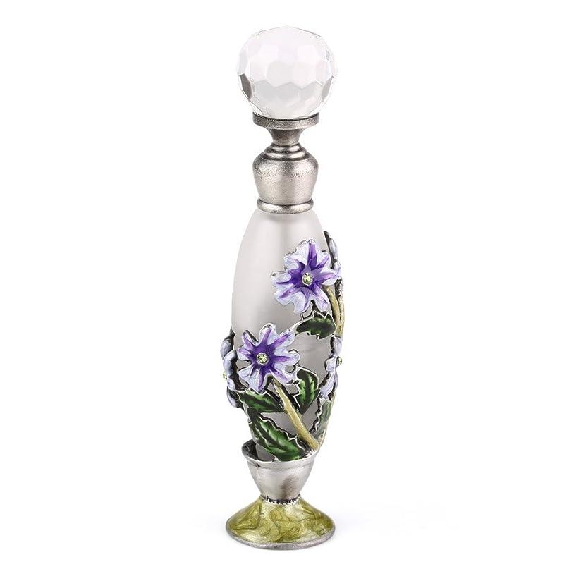 タイト領収書石の高品質 美しい香水瓶 7ML 小型ガラスアロマボトル フラワー 綺麗アンティーク調欧風デザイン プレゼント 結婚式 飾り