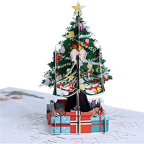 Weihnachten 3D Pop Up Karte, Pop Up Geburtstagskarte, Muttertag Pop Up Karte, Karte für Mutter, Karte für Frau, Grußkarte, Jahrestag Pop Up Karten, Hochzeitskarte und Ahornbaum Karte (D)
