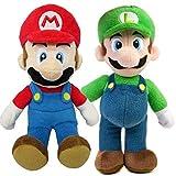 Mario AStars Super Bros Mario and Luigi Set suave peluche peluche peluche muñeca juguete figura de acción hermano