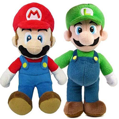 Mario AStars Super Bros Mario et Luigi Ensemble de poupées en peluche douce Ours en peluche Figurine Brother
