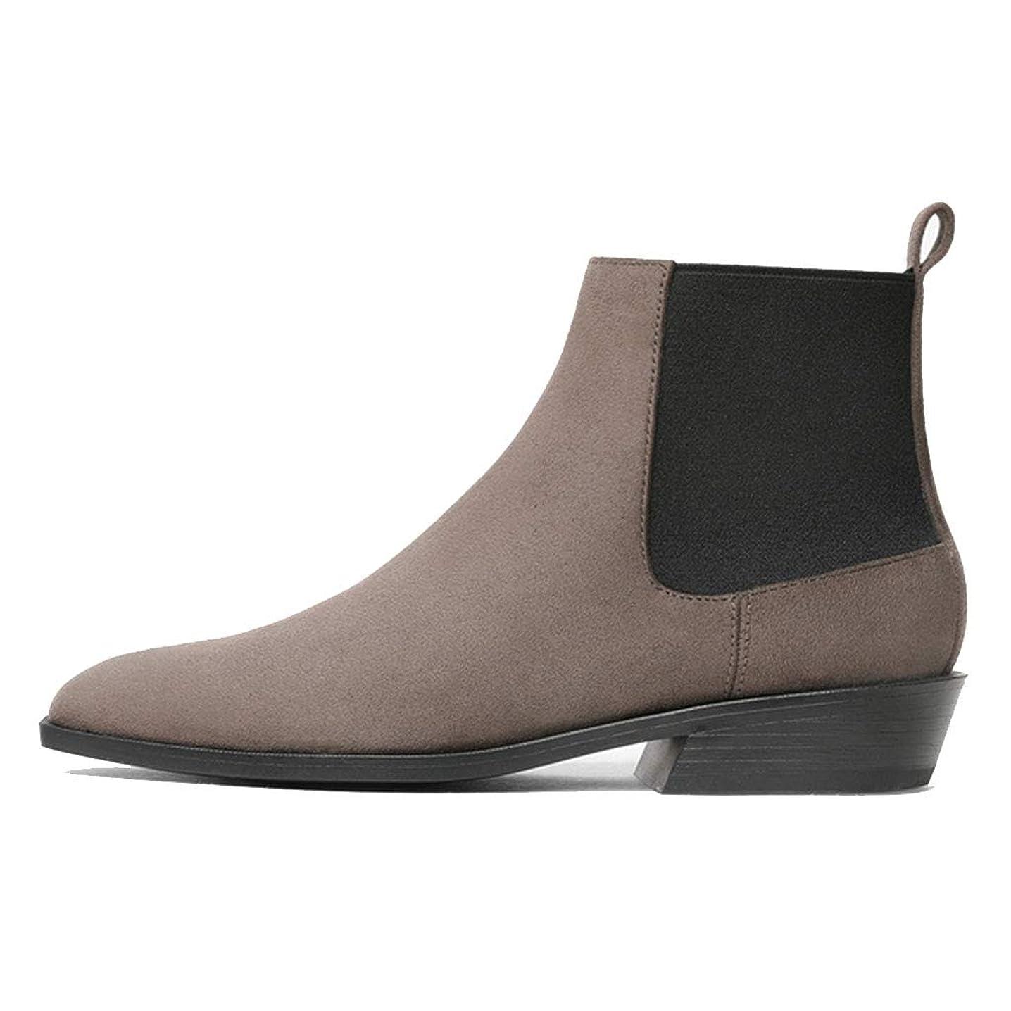 動作フロント影響力のあるフラットブーツレディースブーツシューズマーティンブーツすべての服にフィットするアンクルブーツ 安全?保護用品 (Color : Brown, Size : 37)