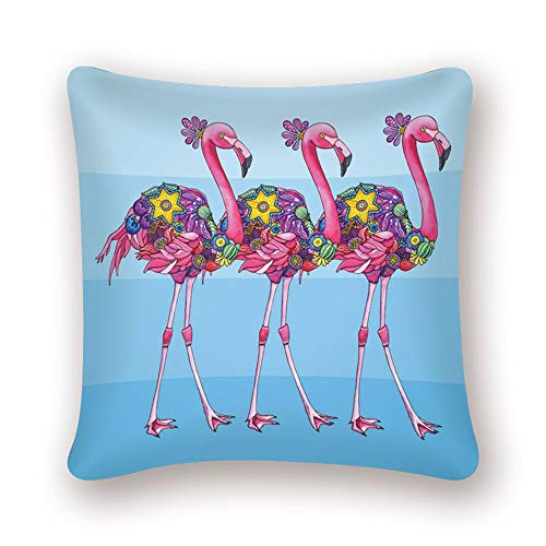 nobrand Flamingo Tropical Plant Kissenbezug Dekokissen Tukan Pink Nordic Home Decoration Sofa Dekorativer Kissenbezug LN076 45 * 45cm