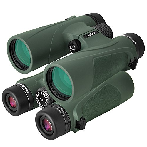 Gosky 10x42 Binoculars for Bird Watching Travelling Landscape Stargazing Hunting Concerts Sports and Outdoor Games (1042 ED binoculars)