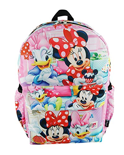 Minnie Mouse Deluxe Oversize Print Large 16' Backpack with Laptop Compartment - A19750