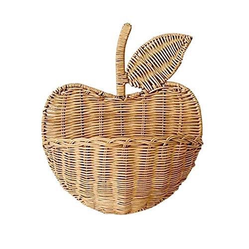 Lpiotyucwh Storage Box, Hand-woven Flower Wicker Shape Picnic Rattan Basket Storage Box Environmentally Friendly Hanging Home Decoration