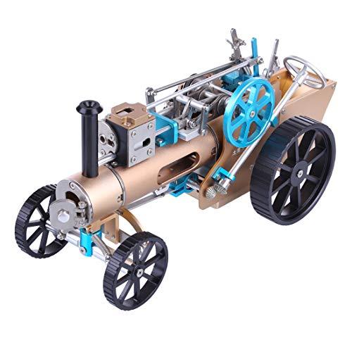 Matuke Dampftraktor Motor - Automotor Modell Elektro Dampfmaschine Dampfauto Modell aus Metall Steam Wissenschaftliches Modell Kit für Kinder und Erwachsene