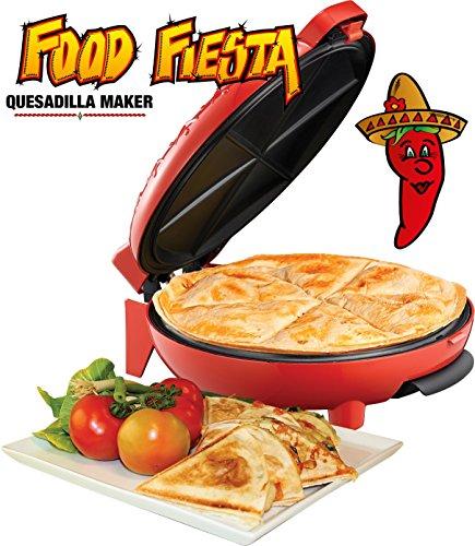 Melissa 16250051 Quesadilla Maker chili rot, 900 Watt Power, TV Werbung,Mexican Food,Pizza mexikanisch,Rezepte,