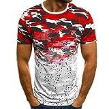Luckycat Tank Top Herren Slim Fit Basic Camouflage Print Kurzarm T-Shirt Herren...