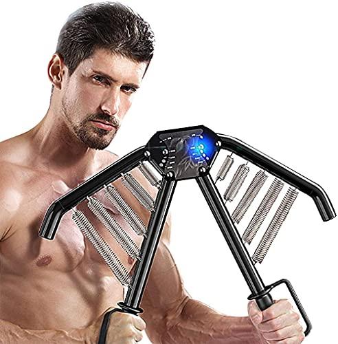 TYUI Power Twister - Expansor de pecho, brazo y máquina de entrenamiento muscular, brazo bíceps, abdomen, hombro, poder, ejercicio con resistencia ajustable