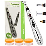 Acupuncture Pen,Gosear Electronic Accupuncture Pen Massage Pen Energy Pen Relief Pain Tools,1 x AA battery (Not Included)