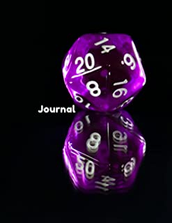Journal: A Blank D20 Journal for all your TTRPG needs