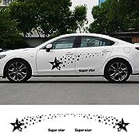 ZYHZJC 2個車ペンタグラムドアサイドスタービニールステッカーエクステリアアクセサリー ために Audi A4 A3,ために BMW,ために Volkswagen,ために Toyota