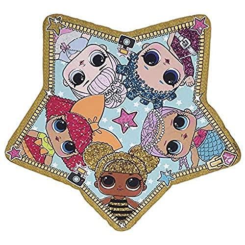 Cerdá LOL Toalla infantil estrella playa piscina para niñas, Multicolor, 115 X 110 CM