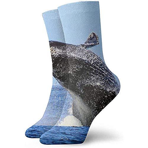 Whale Pattern Söckchen Casual Cosy Crew Socken für Männer, Frauen, Kinder