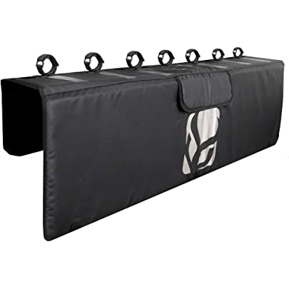 BANDUN Tailgate Pad Tailgate Cover Universal Pickup Tailgate Protective Pad with 2 Shockproof Fixed Seat 1 Tool Pocket and Straps for 2 Bikes Tailgate Bike Pads or Tailgate Surf Pad