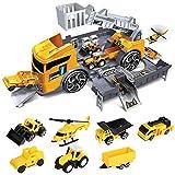 LBLA Camion Giocattoli per Bambini,Giocattoli Bambino 3 Anni,Costruzione di Macchine Camion Trasportatore Auto Giocattolo Regalo per Ragazzi e Ragazze