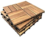 ★ PREMIUM ACACIA HARDWOOD – Each hardwood slat is produced from solid Acacia which is sourced from plantation forests. Hardwood is superior to poor quality softwood which many other decking tiles are manufactured from. All tiles are sealed & oiled wi...