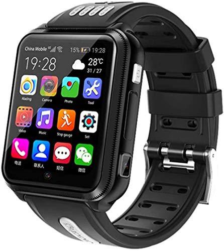 Reloj de pulsera inteligente para niño inteligente 4G GPS Kid Student Music Camera Reloj de pulsera Monitor de localización de rastreo de teléfono reloj de actividad Fitness Tracker Negro-Negro