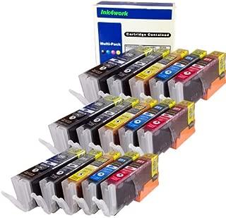 INK4WORK Compatible Ink Cartridge Replacement for Canon PGI-250XL PGI250 XL CLI-251XL CLI251 XL PIXMA IP7220 iP8720 iX6820 MG5420 MG5422 MG5520 MG5522 MG6320 MG7120 MX722 MX922 (15-Pack)