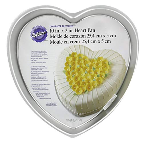 Wilton 2105-602 Decorator Preferred 10-Inch Heart Pan