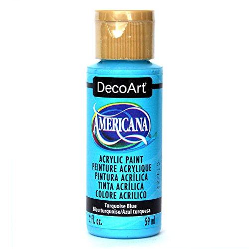 Acrilico Americana dipingere 2 Once-Turchese BLU/Opaco