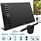 Graphics Tablet M708 UGEE 10 x 6 inch Android Supported Large Active Area Drawing Tablet with 8 Hot Keys, 8192 Levels Pen, Compatible with Windows 10/8/7 Mac Os Artist, Designer, Amateur