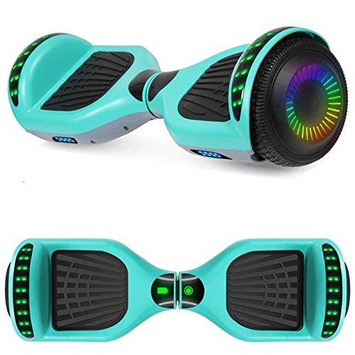 """SISIGAD A12 Hoverboard 6.5"""" Self Balancing Scooter with Bluetooth Speaker (Green+Gray)"""