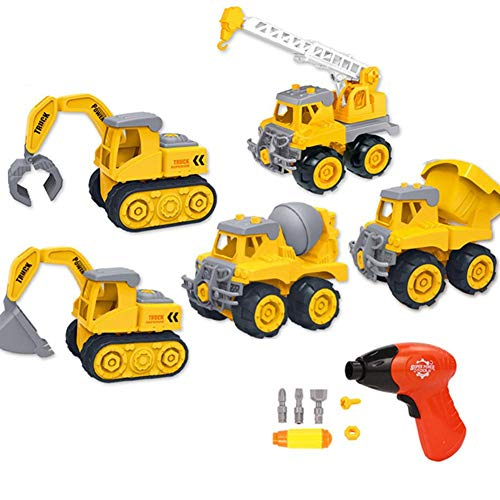 Toy Cars,5 Pcs Use High-Quality Alloy and ABS Materials The Construction Toys Construction Vehicle for Birthday,Christmas,Thanksgiving Gift