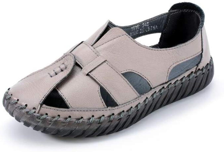 GUJMin Flat shoes Women's shoes Breathable Casual shoes Hollow Sandals Mother shoes