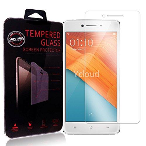 Ycloud Panzerglas Folie Schutzfolie Bildschirmschutzfolie für Oppo R7 (5.0 Zoll) screen protector mit Festigkeitgrad 9H, 0,26mm Ultra-Dünn, Abger&ete Kanten