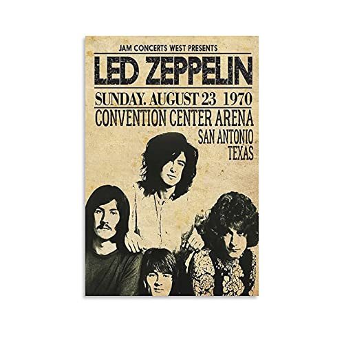 ZZPQ Vintage Poster of Famous British Rock Band Led Zeppelin Poster Decorative Painting Canvas Wall Art Living Room Posters Bedroom Painting 12×18inch(30×45cm)
