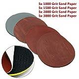 20 discos de lija para pulir papel de lija de 125 mm grano 1000 1500 2000 3000