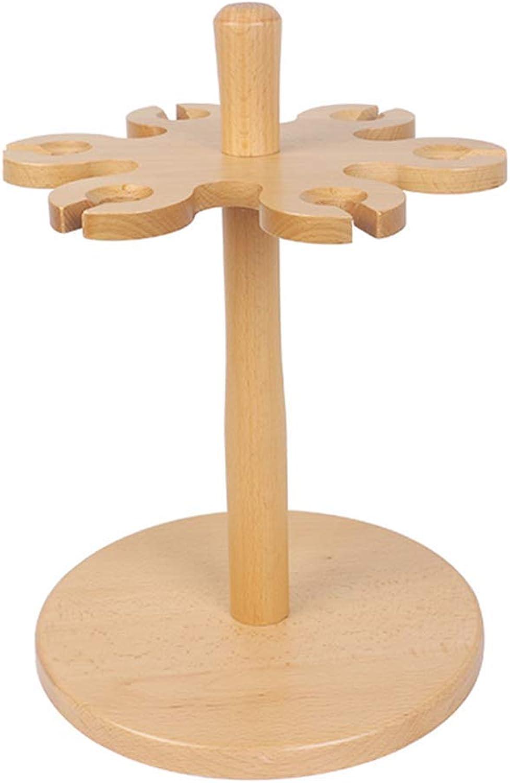 Red Wine Shelf Wine Rack Wine Glass Rack Solid Wood Goblet Holder Household Hanging Cup Holder (36.5  26.5  26.5)