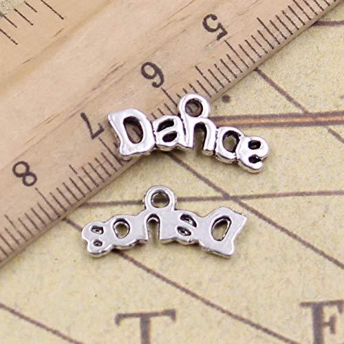 WANM 40 Uds Placas de dijes Danza 20x9mm Colgantes tibetanos joyería Antigua fabricación de Manualidades Hechas a Mano para Collar de Pulsera