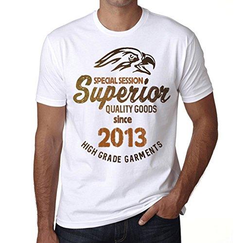 2013, Special Sessions Superior Since 2013 Hombre Camiseta Blanco Regalo De Cumpleaños 00522