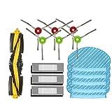 Zealing 18 unids/set cepillo de rodillo HEPA filtro lado cepillo de limpieza trapeador almohadillas trapos para Ecovacs Deebot OZMO 920 950 Yeedi 2 accesorio híbrido robot Partes de aspirador