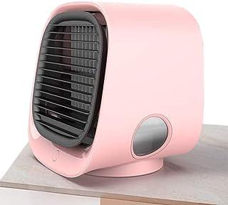 Nykkola - Enfriador de aire portátil, mini USB, humidificador de aire personal 4 en 1, enfriador de aire, ventilador de escritorio de enfriamiento para el hogar, oficina al aire libre
